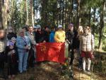Muistokukat Возложение цветов к захоронению советских летчиков